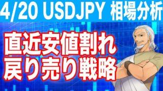 ドル円相場分析4月20日